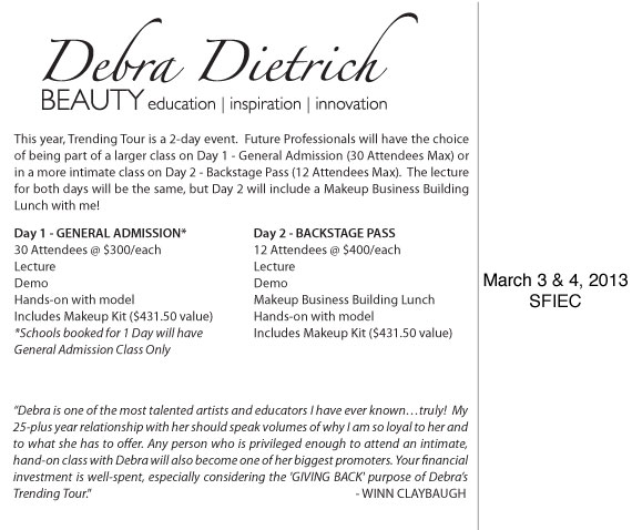Debra Dietrich's Trending Tour 2013